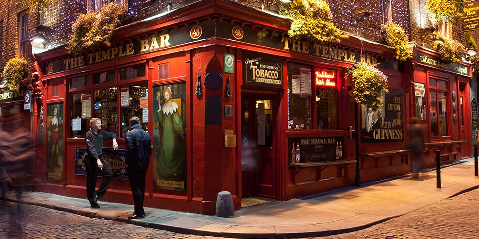 Det berømte og berygtede Temple Bar.