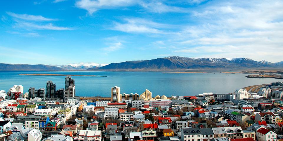 Udsigt over Reykjavik.