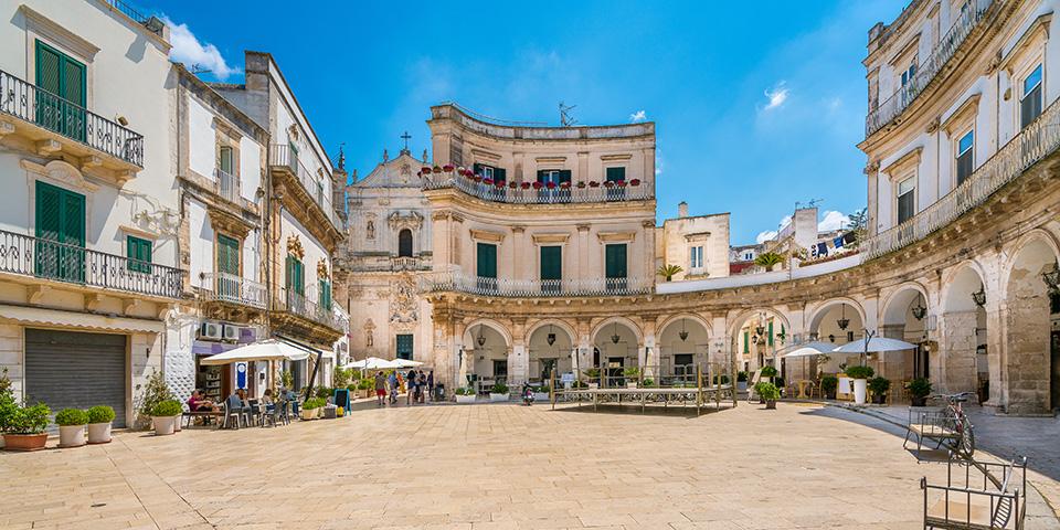 Den charmerende historiske bydel i Martina Franca.