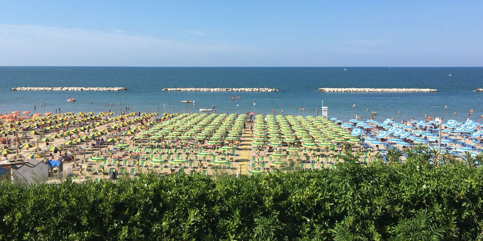 Stranden i Gabicce Mare.