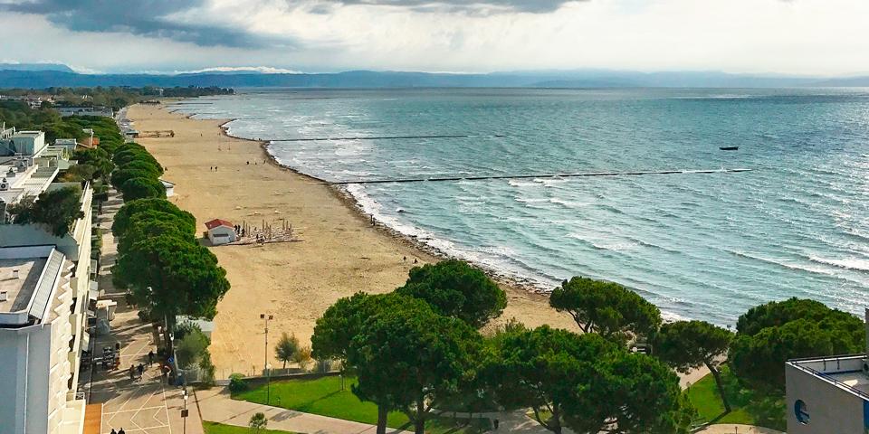 Stranden i Grado.