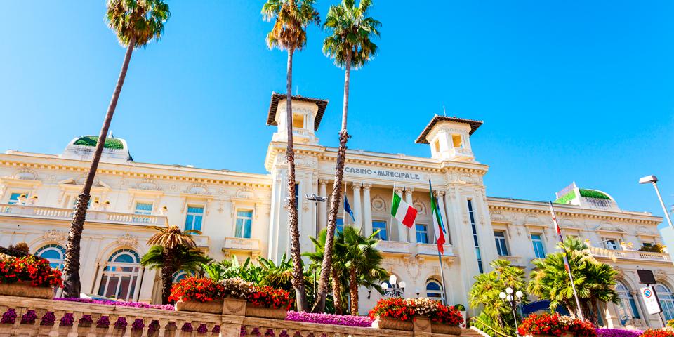Det berømte kasino i Sanremo.