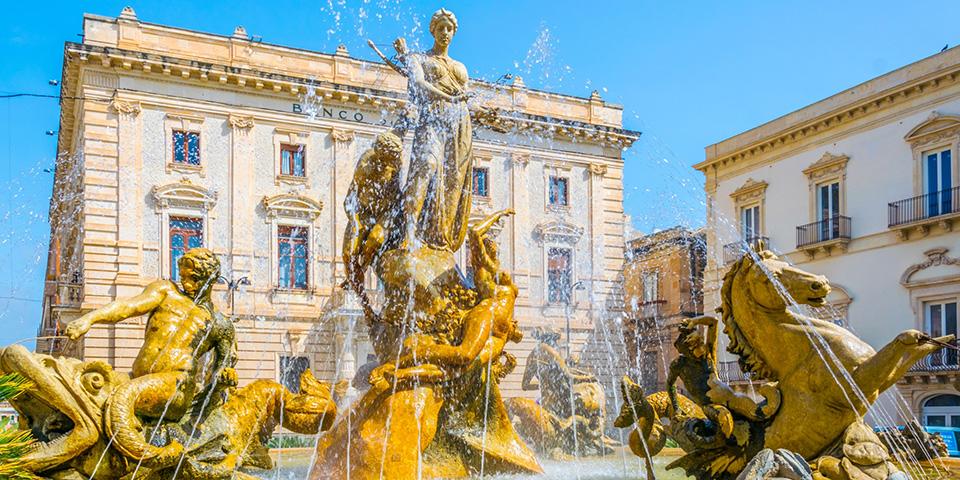 Diana-fontænen i Siracusa.