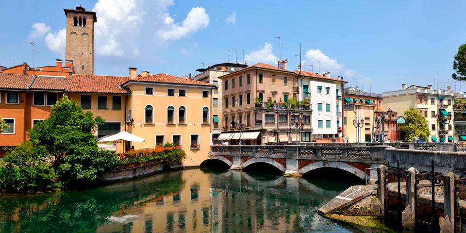 Trevisos mange kanaler har givet byen tilnavnet Lille Venedig.