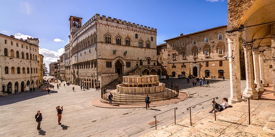 Den flotte plads i Perugia.