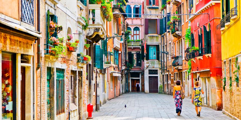 På opdagelse i Venedig.