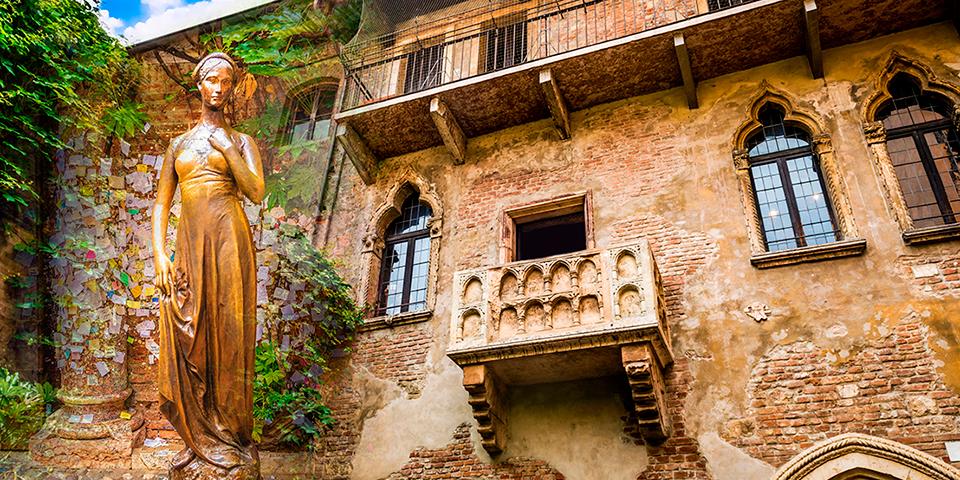Julies balkon i Verona.