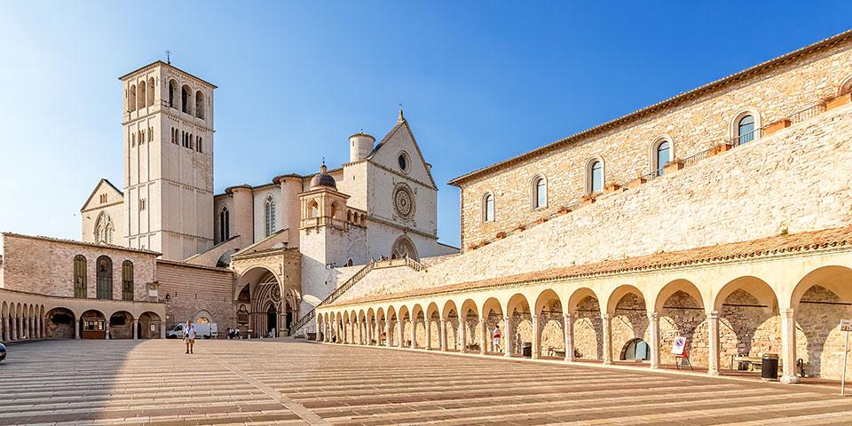 San Francesco-basilikaen i Assisi.