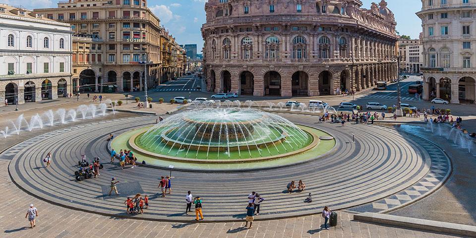 Hovedpladsen i Liguriens hovedstad Genova.