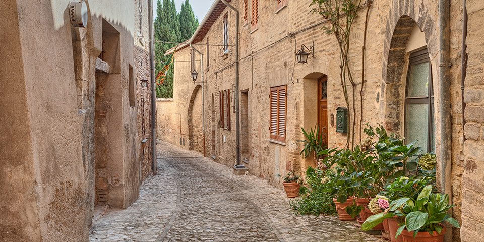 Italiensk idyl i Montefalco.