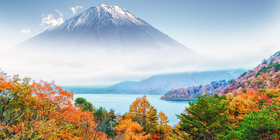 Efterårsfarver omkring Mt. Fuji.