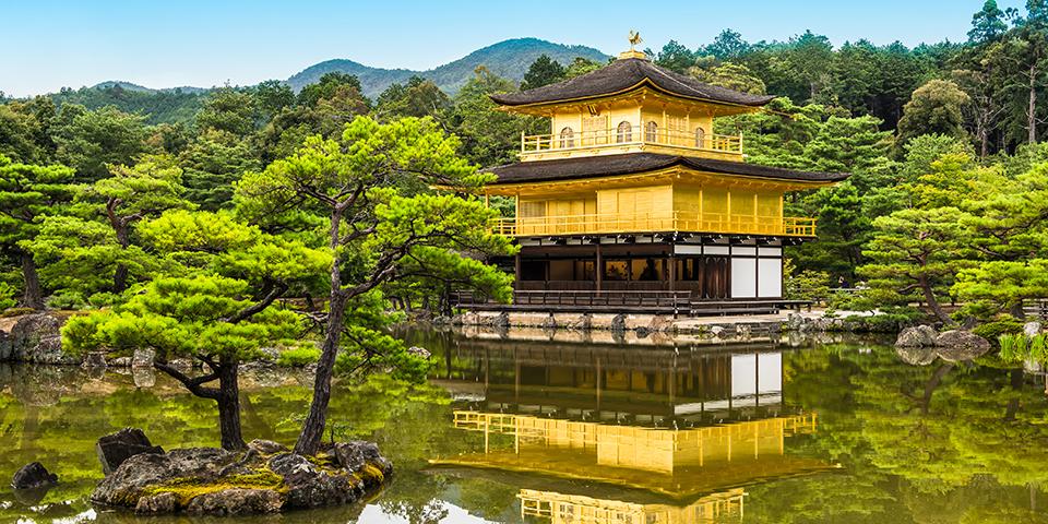 Guldpavillionen Kinkaku-ji.