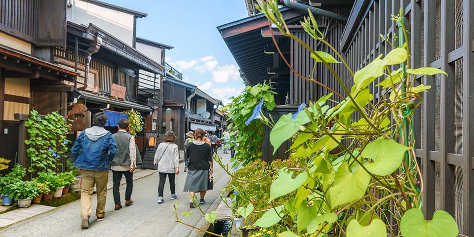 Bjergbyen Takayama.