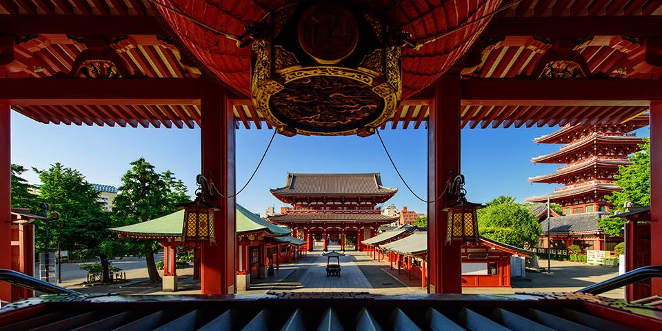 Det smukke tempel i Asakusa.