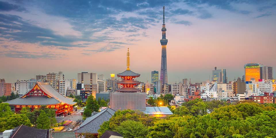 Gammelt og nyt blandet sammen i Tokyo.