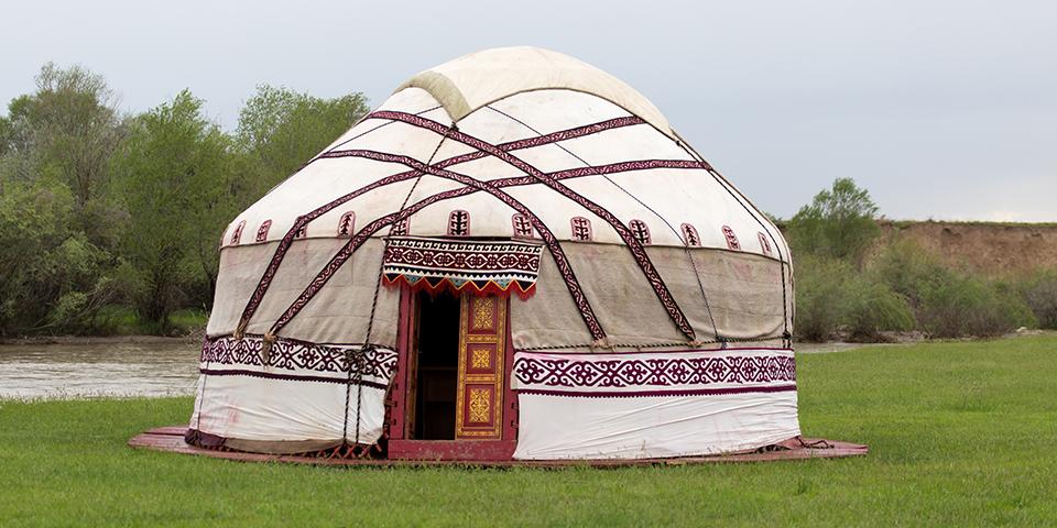 Nomadernes traditionelle bolig - en yurt.