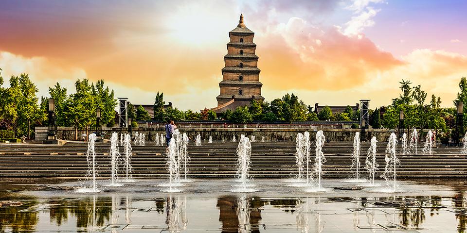 Den store vildgås pagode i Xi'an.