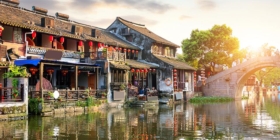Den smukke kanalby Xitang.