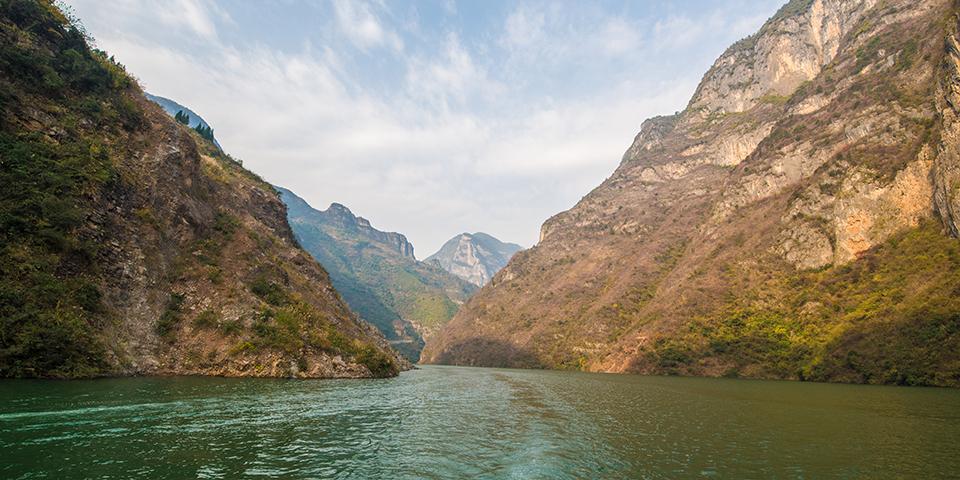 Afslappende sejlads på Yangtzefloden.