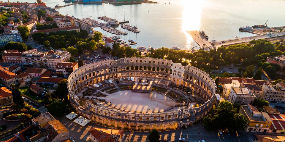 Det 2.000 år gamle romerske amfiteater.