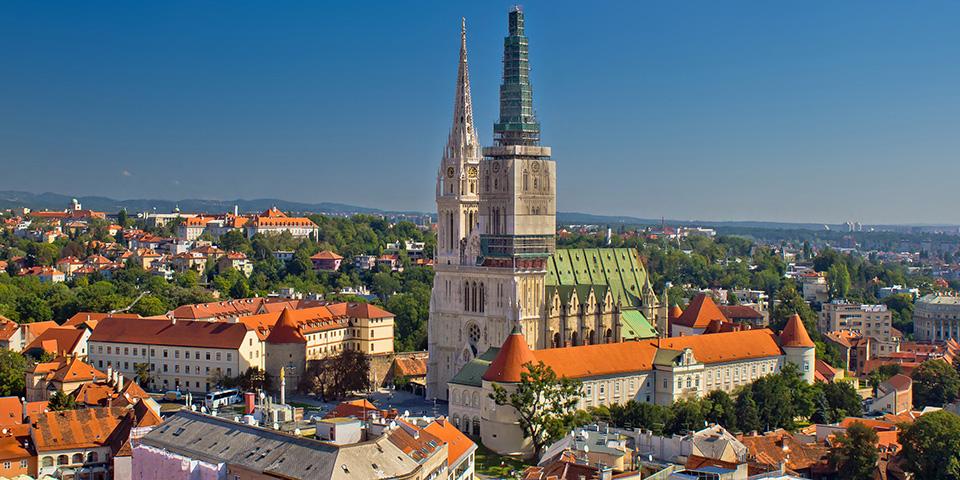 Zagreb, Kroatiens hovedstad og største by.