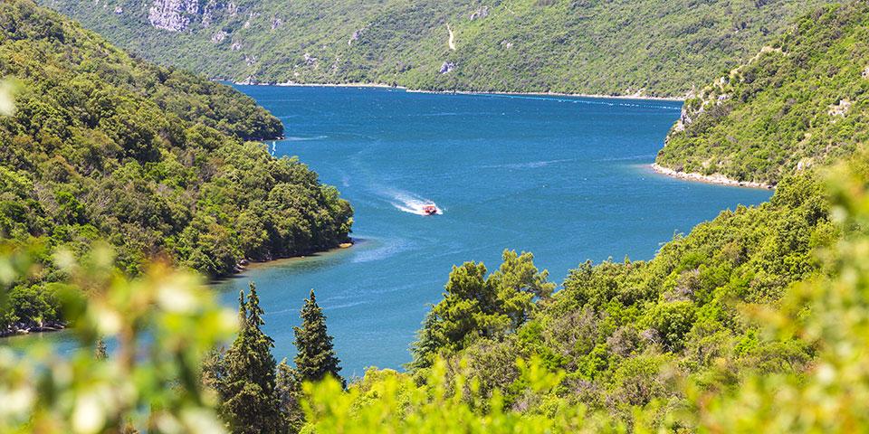 Limfjorden på Istrien.