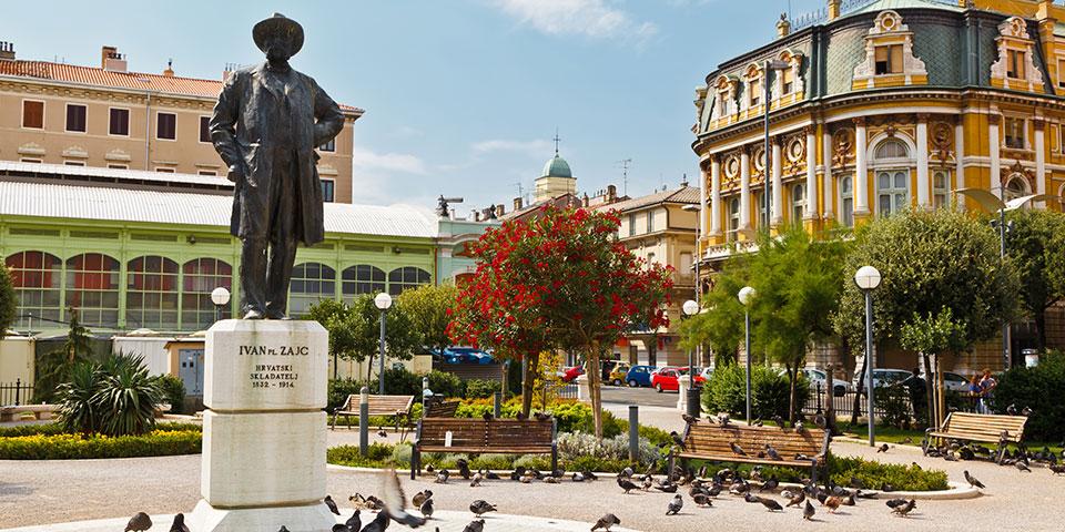 Rijeka, der er Kroatiens tredjestørste by.