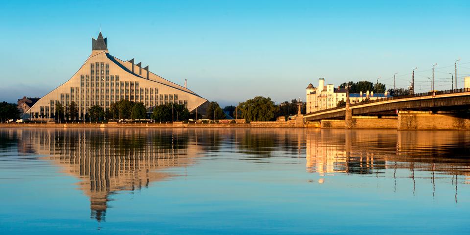 Nationalbiblioteket i Riga.