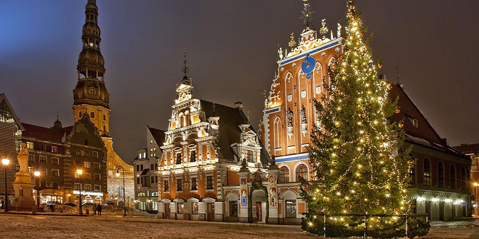 Julestemning i Rigas gamle bydel.