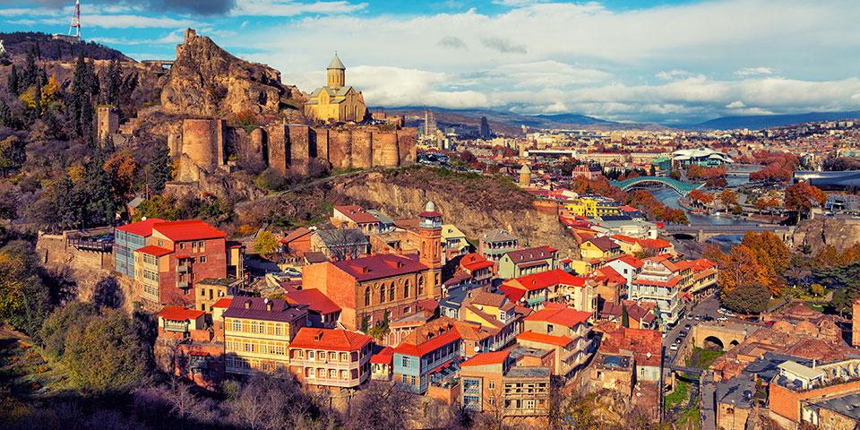 Georgiens hovedstad Tbilisi.