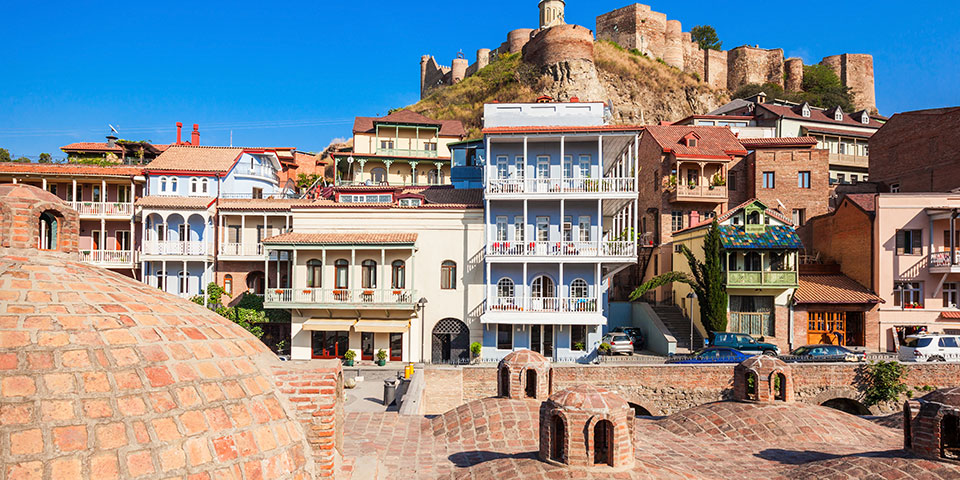 Den gamle bydel i Tbilisi.