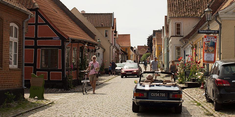 Landsbyidyl i Ærøskøbing på Ærø.