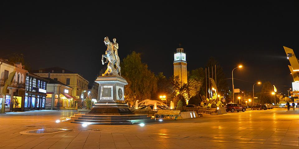 Aftenlys i Bitola, selveste Atatürks barndomsby.