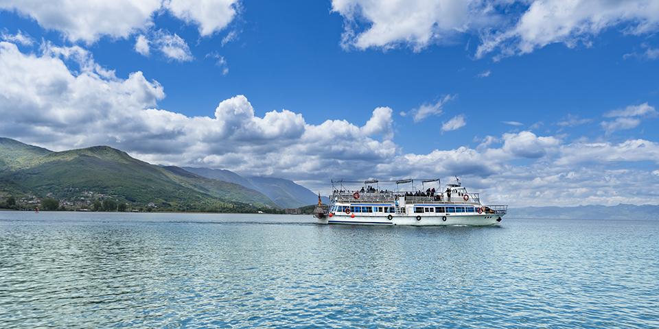 Sejltur på Ohridsøen.