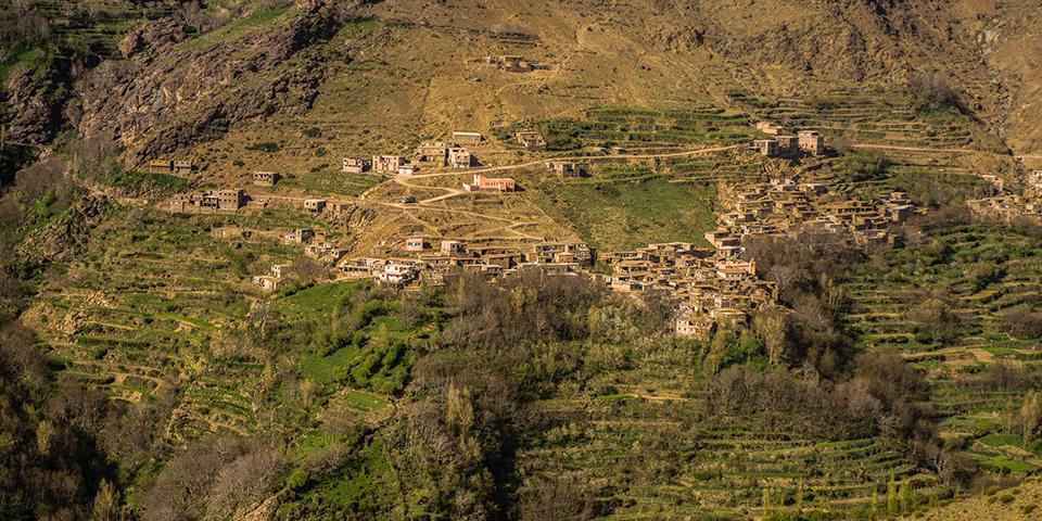 Landsby i ouirgan-dalen.