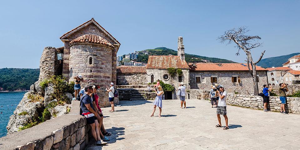 Den historiske bydel i Budva.