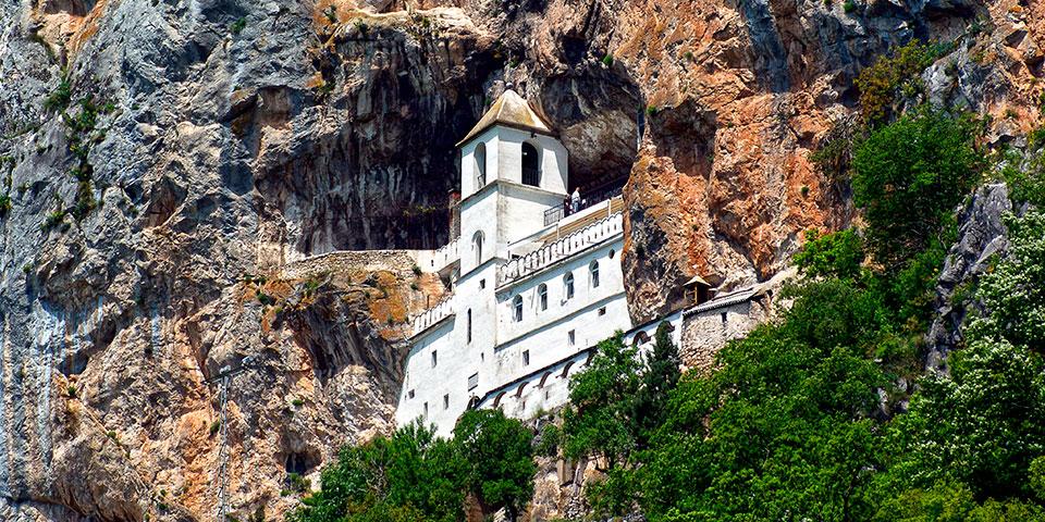 Det UNESCO-beskyttede kloster Ostrog.