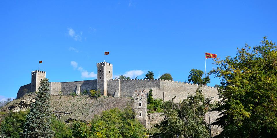 Skopjes imponerende fæstning.