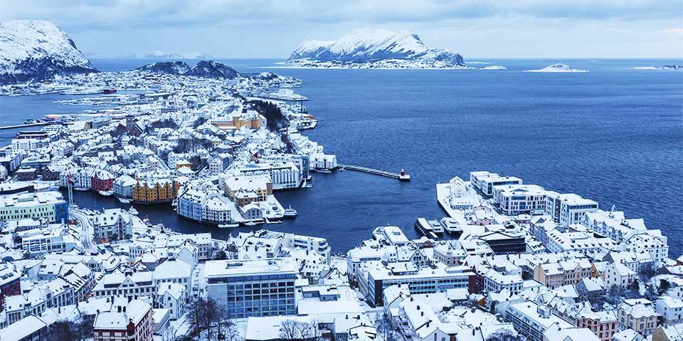 Den smukke jugendby Ålesund.