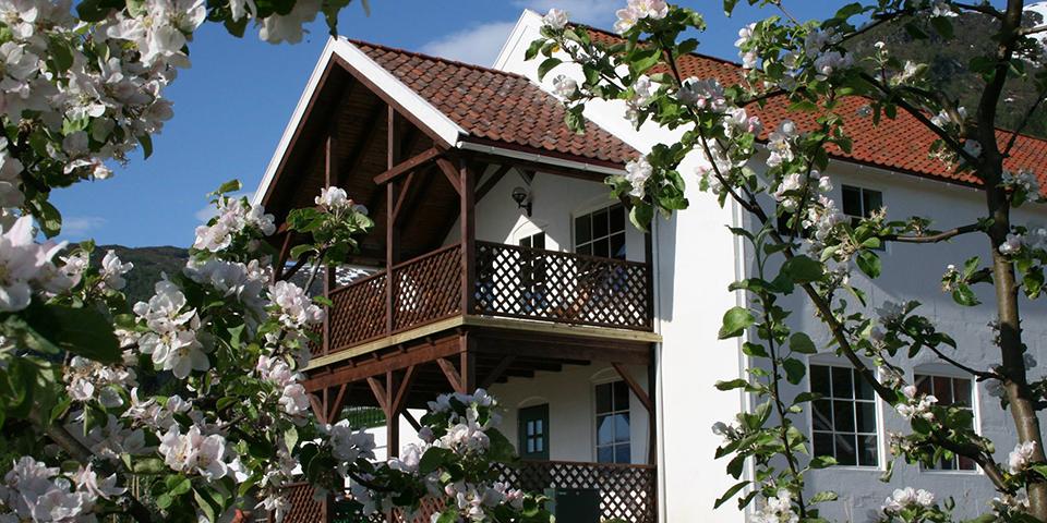 Ciderhuset har til huse i denne charmerende bygning.