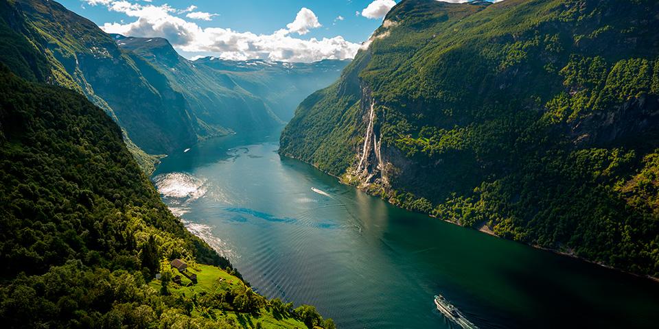 Den smukke Geriangerfjord.