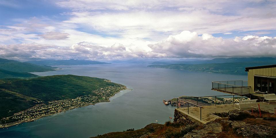 Udsigt fra Narvikfjellet.