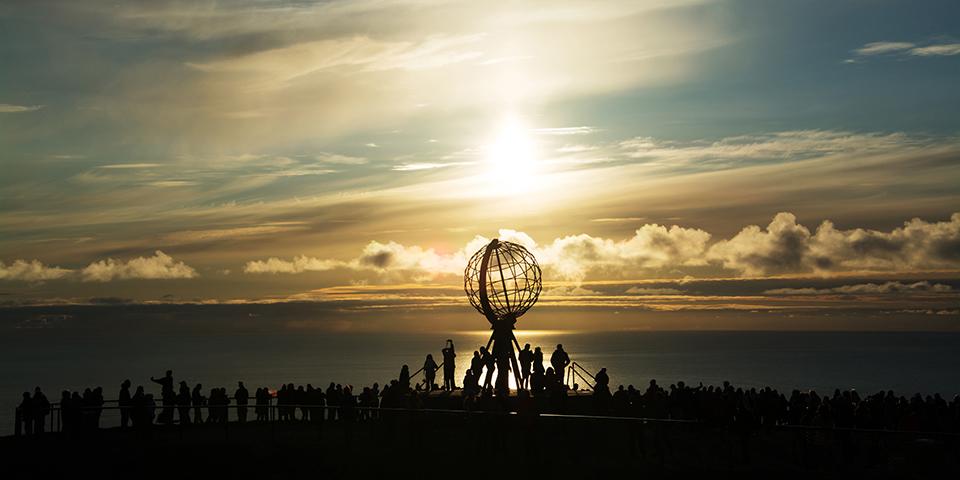 Globussen ved Nordkapplateauet.