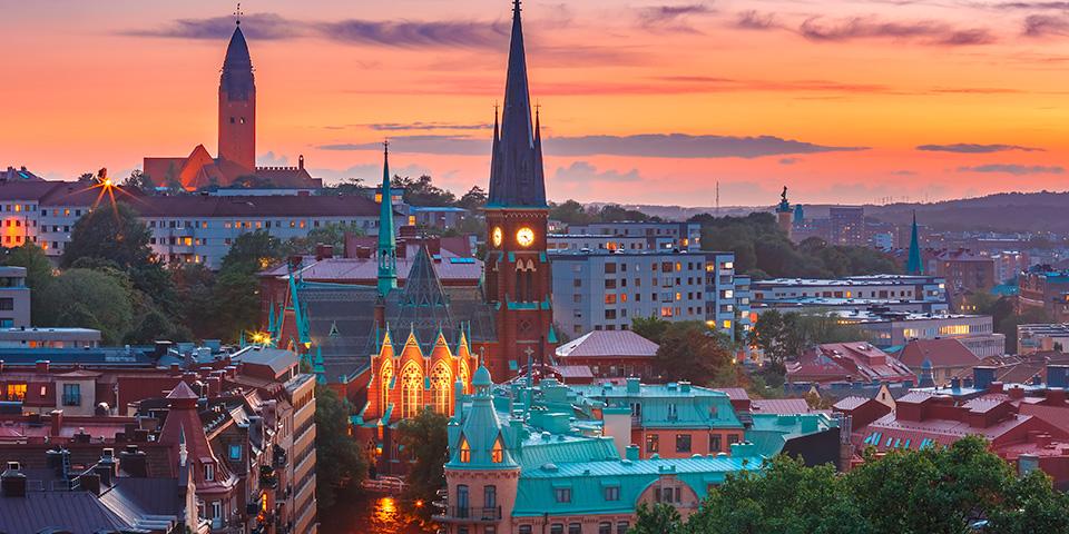 Udsigt over Göteborg.