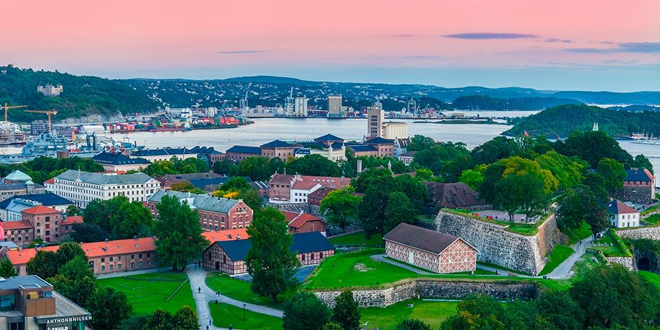Udsigt over Oslo fjord.