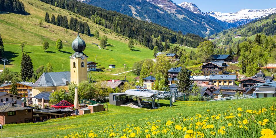 Saalbach i smukke omgivelser.