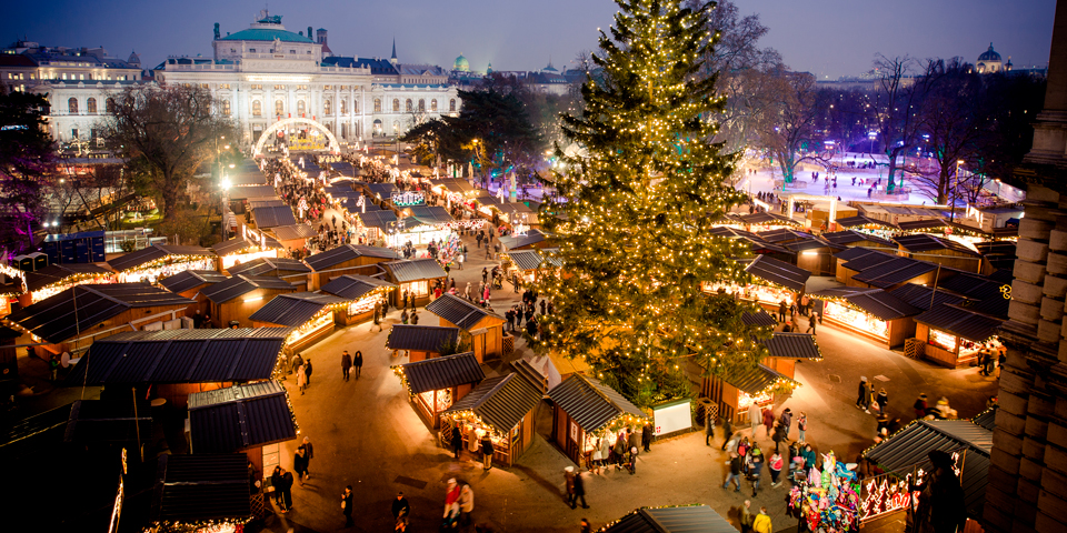 Det berømte julemarked i smukke Wien.