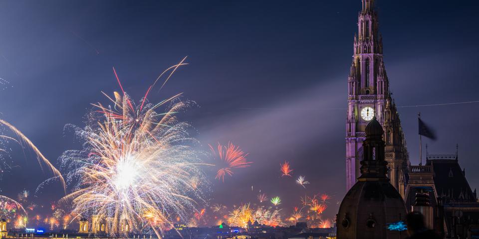 Festligt nytår i Wien.