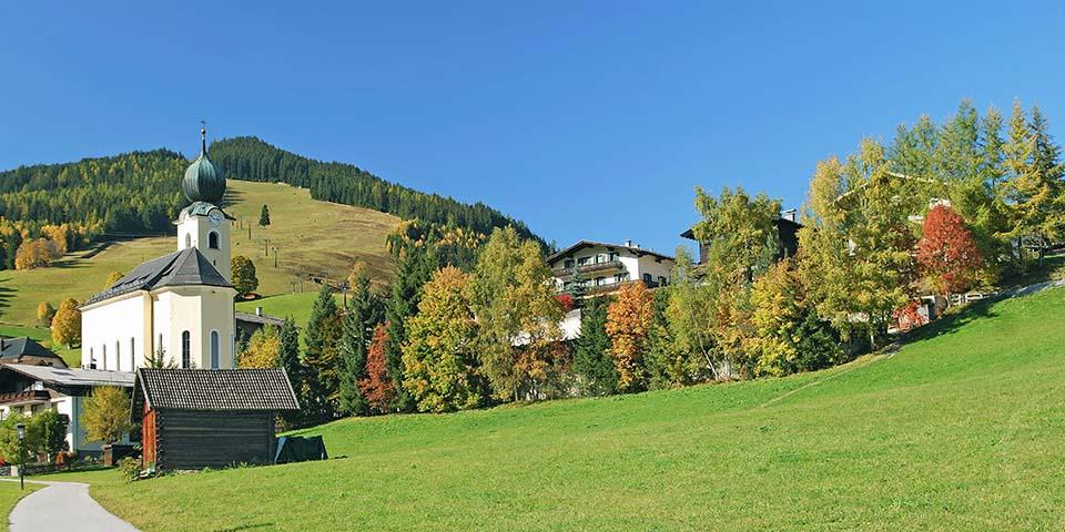 Naturen ved Saalbach er skøn.