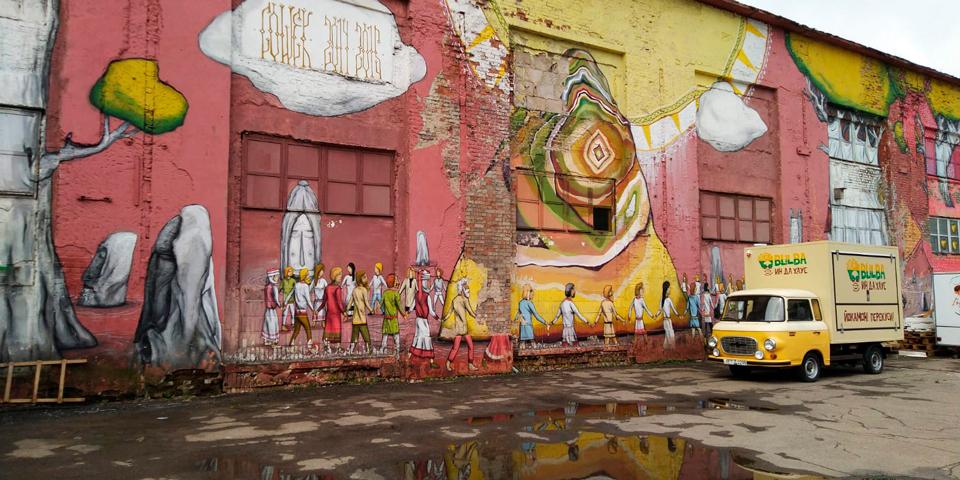 Gadekunst på Oktobergaden.
